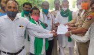 भारतीय किसान श्रमिक जनशक्ती यूनियन के द्वारा जीपीओ गाधी प्रतिमा हजरतगंज पर एकत्रित होकर मुख्यमंत्री को ज्ञापन एस एचओ हजरतगंज को सौपा
